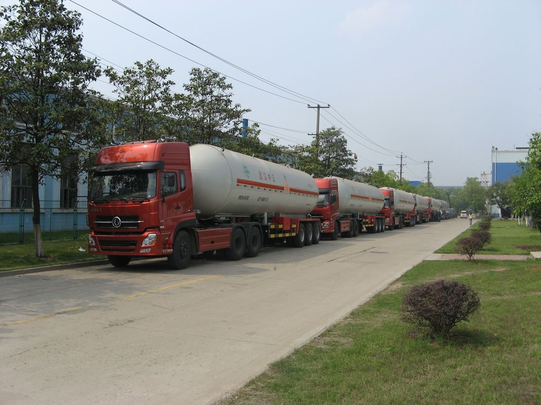 Natural Gas Transport Semi Traile 56m3 With Double Valve Boxes